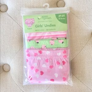 💜 Green Sprouts Little Girls' Underwear 3Pk - NWT